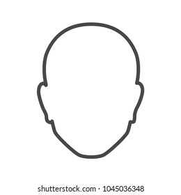 male silhouette of a head. abstract silhouette of a man