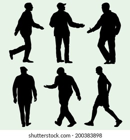 male silhouettes