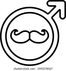 Male Singage with moustache Concept, Vector Icon Design, Fathers Day Symbol, Dads Gift Elements Sign, Parents Day Stock illustration