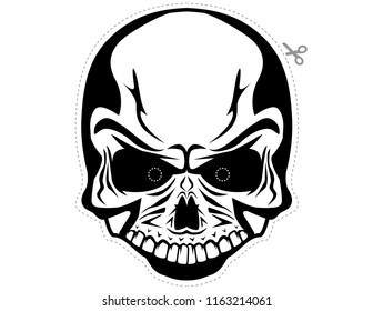 Male skull Halloween mask