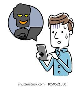 Male: Smartphone, internet, crime, fraud
