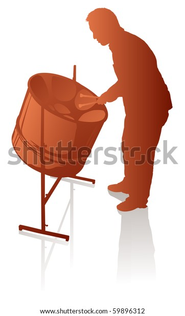 Male Steel Pan Player