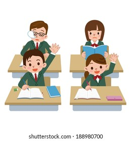 Illustration Person Pretending That Student Studying Stock Vector (Royalty  Free) 222516517