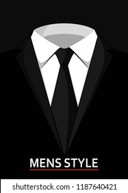 Male suit concept of business style clothes.