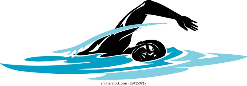 swimmer silhouette images stock photos vectors shutterstock rh shutterstock com swimming clipart gif swimming clipart black and white