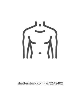 Male torso line icon