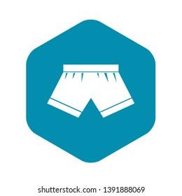 Male underwear icon. Simple illustration of male underwear vector icon for web