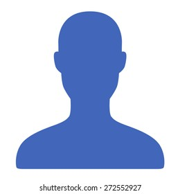 Male user account or user profile flat vector icon for apps and websites