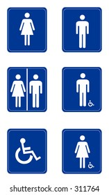 Male/Female Sign.  Figures and background are on separate layers.