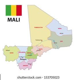 mali administrative map