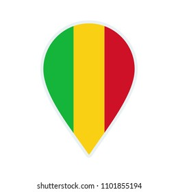 Mali flag icon. Travel icon. Travel destination of Mali. Mali badge. Flag badge.