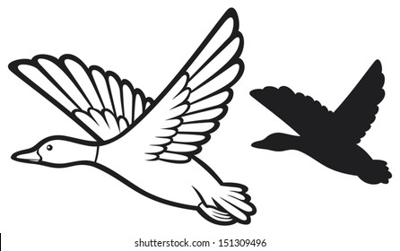 flying ducks images stock photos vectors shutterstock rh shutterstock com  butterfly clipart black and white