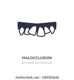 malocclusion icon on white background. Simple element illustration from Dentist concept. malocclusion icon symbol design.
