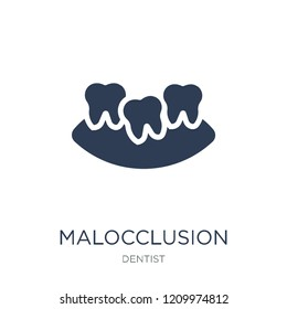 Malocclusion icon. Trendy flat vector Malocclusion icon on white background from Dentist collection, vector illustration can be use for web and mobile, eps10