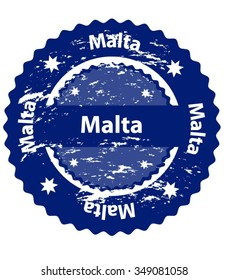 Malta Country Grunge Stamp
