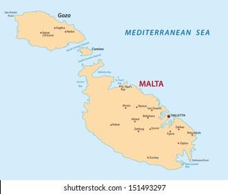 Malta Map Images Stock Photos Vectors Shutterstock