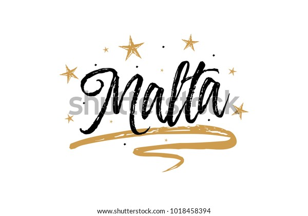 Malta Name Country Word Text Card Stock Vector (Royalty Free