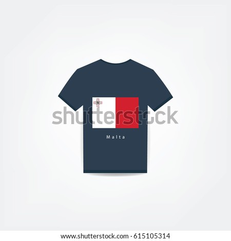d52541097 Malta On Tshirt Design Using Business Stock Vector (Royalty Free ...