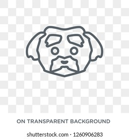 Maltese dog icon. Trendy flat vector Maltese dog icon on transparent background from dogs collection. High quality filled Maltese dog symbol use for web and mobile