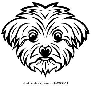 maltese dog icon vector