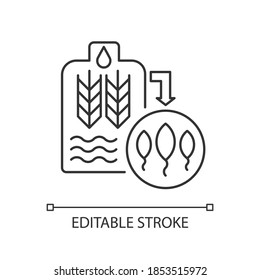 Malting pixel perfect linear icon. Beer production from herbal ingredient. Brewery manufacture. Thin line customizable illustration. Contour symbol. Vector isolated outline drawing. Editable stroke