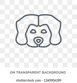 Maltipoo dog icon. Trendy flat vector Maltipoo dog icon on transparent background from dogs collection. High quality filled Maltipoo dog symbol use for web and mobile