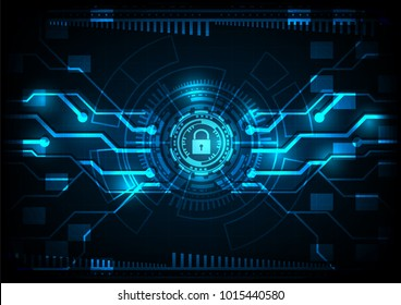 Malware Ransomware virus encrypted files and show key padlock circuit line and gear background. Vector illustration cybercrime and cyber security concept.