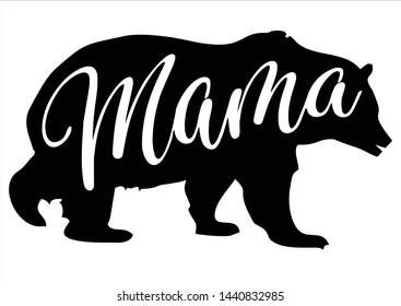 Mama Bear Vector Logo Templete, mothers day