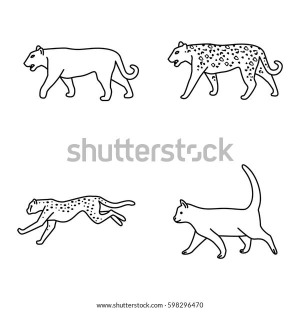 Mammals Vector Icons Stock Vector (Royalty Free) 598296470