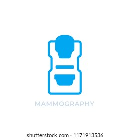 Mammography machine icon isolated on white