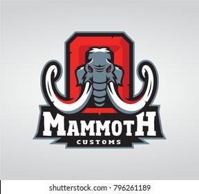 Mammoth Custom design logo.