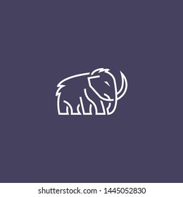 mammoth elephant logo vector icon illustration inspiration