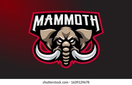Mammoth Esports Mascot Logo Design-08