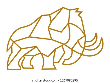 Mammoth Geometric vector design