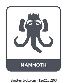 mammoth icon vector on white background, mammoth trendy filled icons from Stone age collection, mammoth simple element illustration
