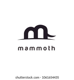 Mammoth / Initial M logo design inspiration