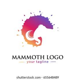 MAMMOTH LOGO. animal logo with gradation concept