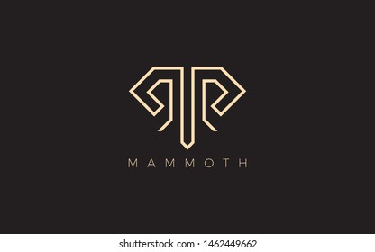 Mammoth logo is formed with simple geometric lines