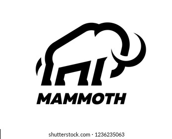 Mammoth logo template.