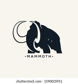 mammoth logo vector black white