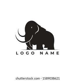mammoth logo for your business , simple clean logo full vector template