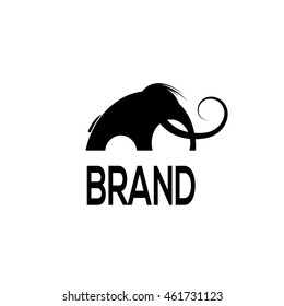 Mammoth vector logo template