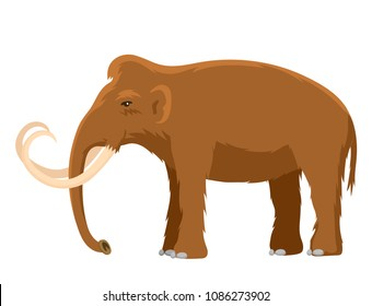 Mammoth vector mammal animal character