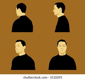 Man with 4 angle (Vector)
