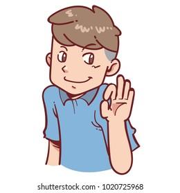 man agreed gesture