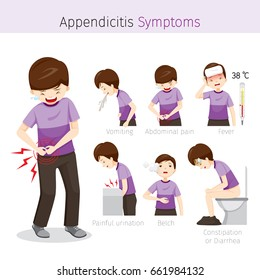 Man With Appendicitis Symptoms, Appendix, Internal Organs, Body, Physical, Sickness, Anatomy, Health