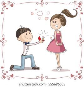 Couple Caricature Images Stock Photos Vectors Shutterstock
