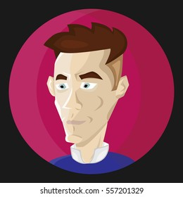 Man avatar character. Vector Illustration.
