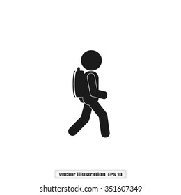 Man Backpack icon vector illustration eps10.