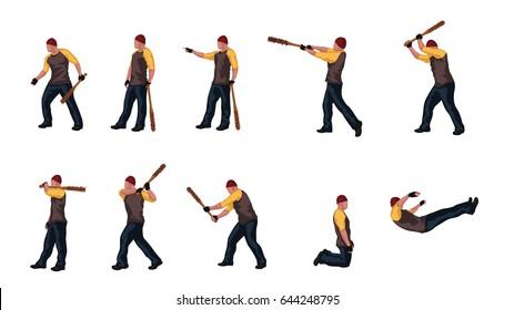 man with basebal bat set 03